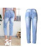 New Designer Hollow Out Skinny Jeans