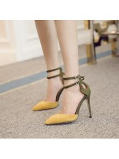 Pointed Toe Girls High Heel Sandals
