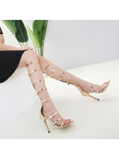 Multi Strap Open Toe Stiletto Sandals
