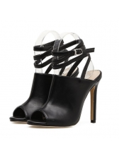 New Fashion PU Strappy Peep Toe Sandals