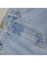 Euro Style High Waisted Hollow Out Denim Skirt