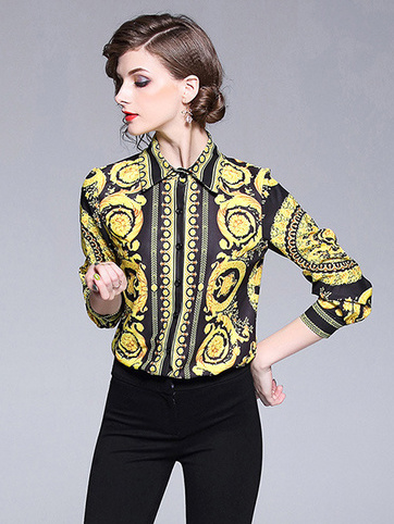 Euro Fitted Easy Match Womens Yellow Blouse - Selerit