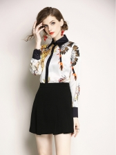 New Arrival Color Block Lady Blouse