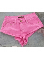 Euro Low Waist Solid Beach Hot Shorts