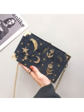 New Arrival Star Embroidery Casual Chain Bag