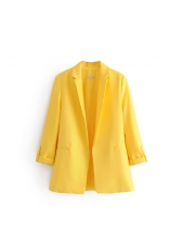 Candy Color Loose Pockets Cheap Blazers For Women