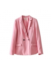 Fashion Double-Breasted Candy Color Womens Blazer