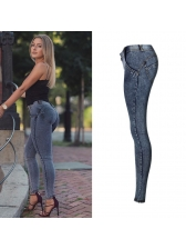 Euro High Waisted Stretch Buttock Lifting Trousers