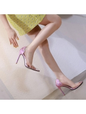 Stylish Pvc Pointed Woman Pumps
