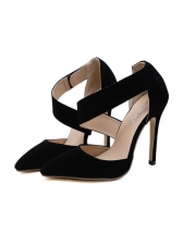 Hot Sale Pointed Velcro Solid Stiletto