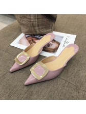Pointed Patent Leather Mules Slippers