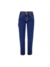 Hot Sale Mid-Waisted Skinny Jeans For Women in Deep Blue - Selerit