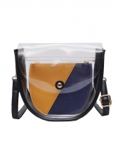 Contrast Color 2 Pieces Shoulder Bag in White/Black - Selerit