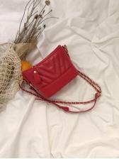 Fashion Chain Contrast Color Shoulder Bag - Selerit