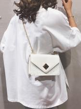 Square Mini Chain Shoulder Bag in Pink/Beige/Black - Selerit