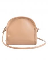 Vintage Style Zip Solid Mini Saddle Bag - Selerit