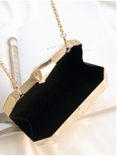 Uneven Surface Specular Chain Clutch Bag, One Size, Fashion Style