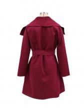 Solid Color Business Women Cardigan Coat, Turndown Collar, Pocket