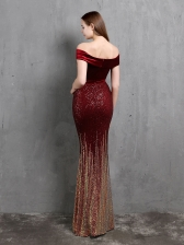 Temperament Velvet Grace Evening Maxi Dresses, V Neck, Bodycon