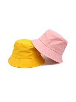 Casual Solid Sun Protection Bucket Hat