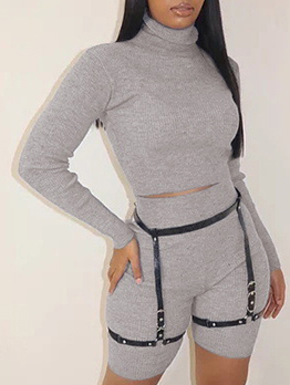 Winter Long Sleeve Solid 2 Piece Pant Sets