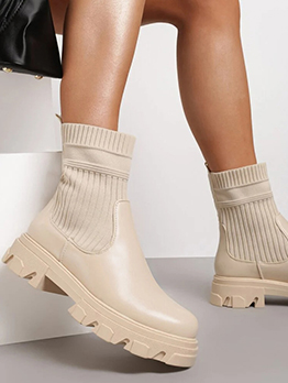 Modern Solid Thick Bottom Springy Boots