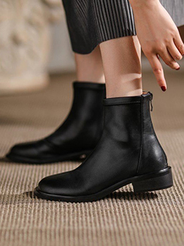 Fall Solid British Style Boots